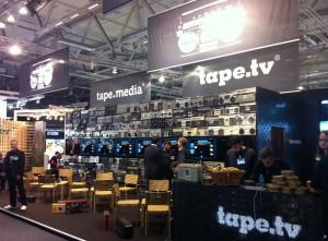 dmexco: Blick auf den Stand von tape.tv