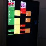 Kühlschrank mit großem Touchscreen