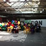 Bunte Stühle der re:publica